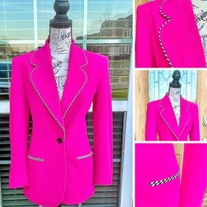 ESCADA Laurel Magenta Pink Suit Blazer Jacket